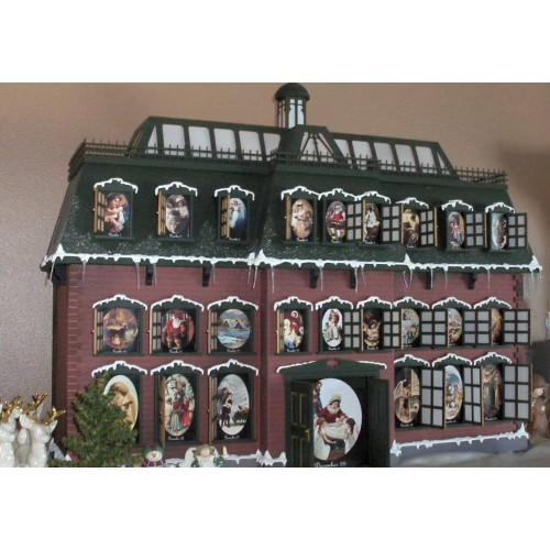 full completed christmas vacation advent house